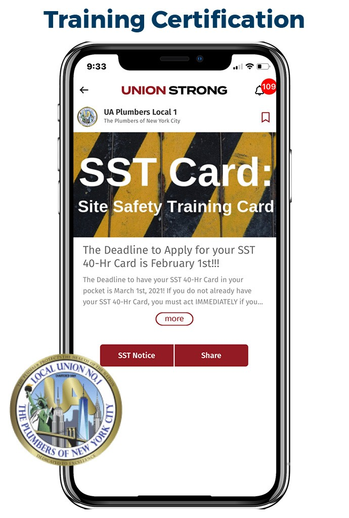 Training Certification Push Message