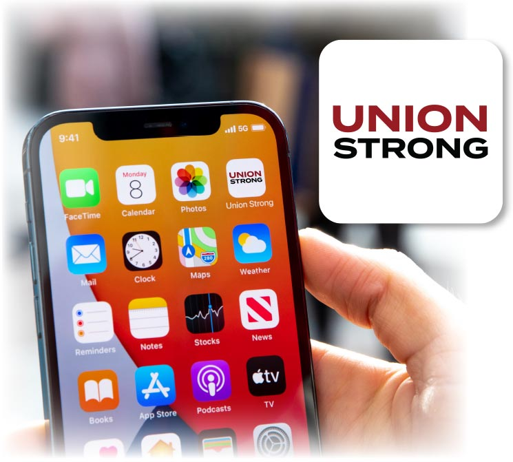 Union Strong App Screen